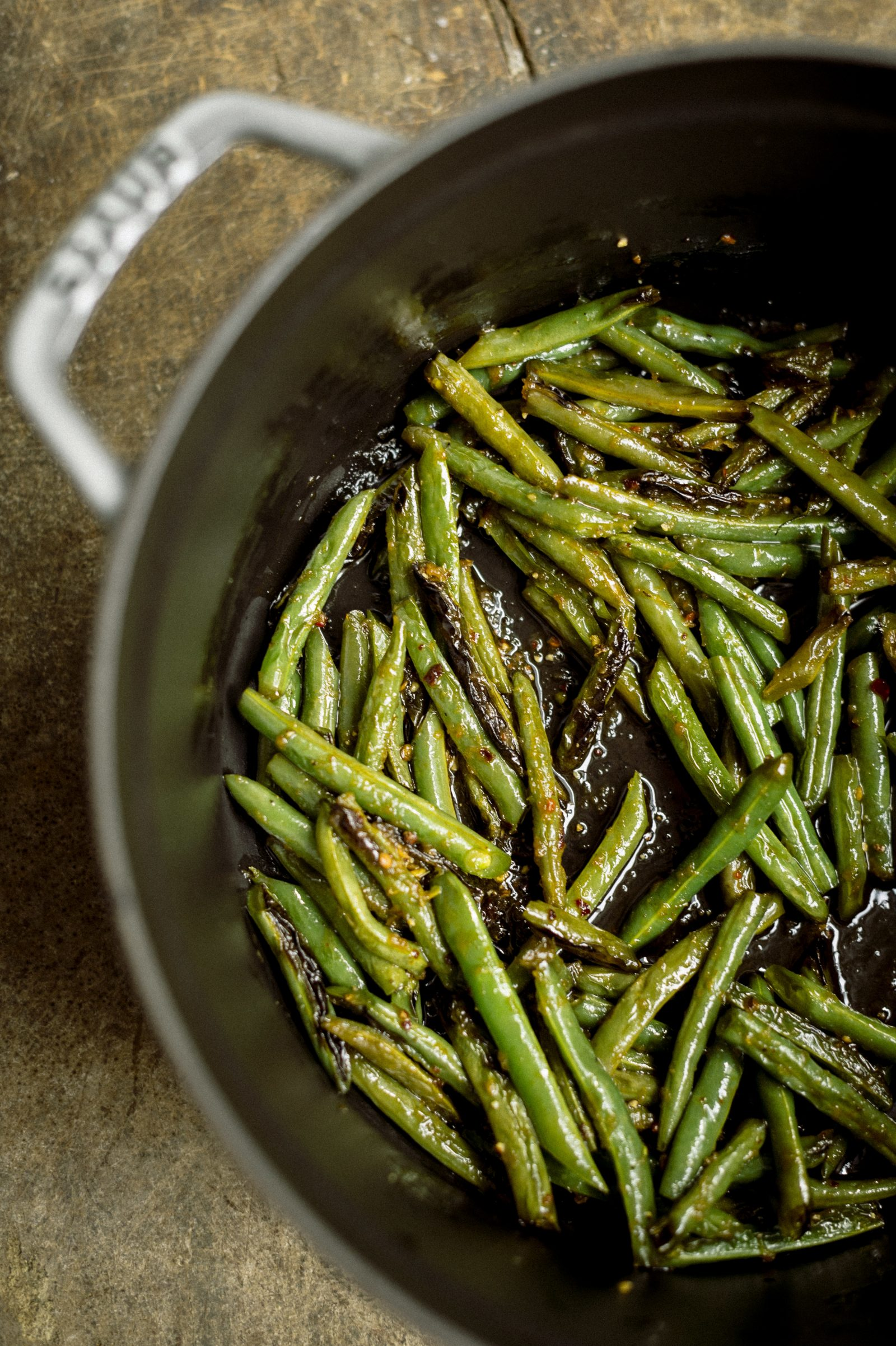 Sweet-and-Spicy Ginger Green Beans
