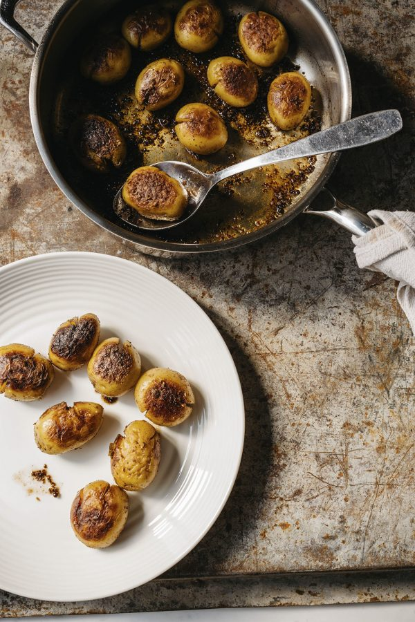 Cracked Potatoes with Vermouth, Coriander and Fennel