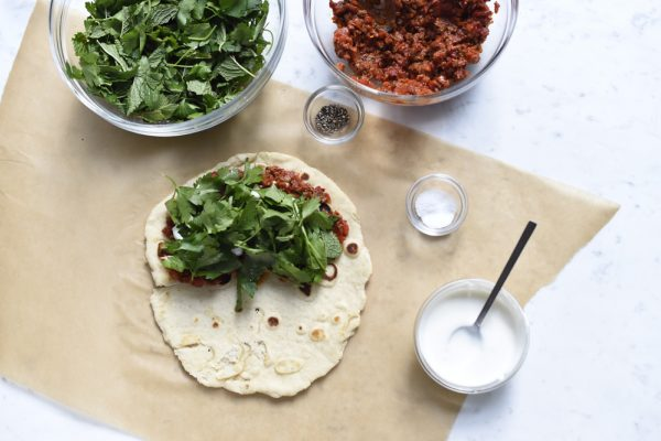 Lahmajoun with Lamb Piadine Filling