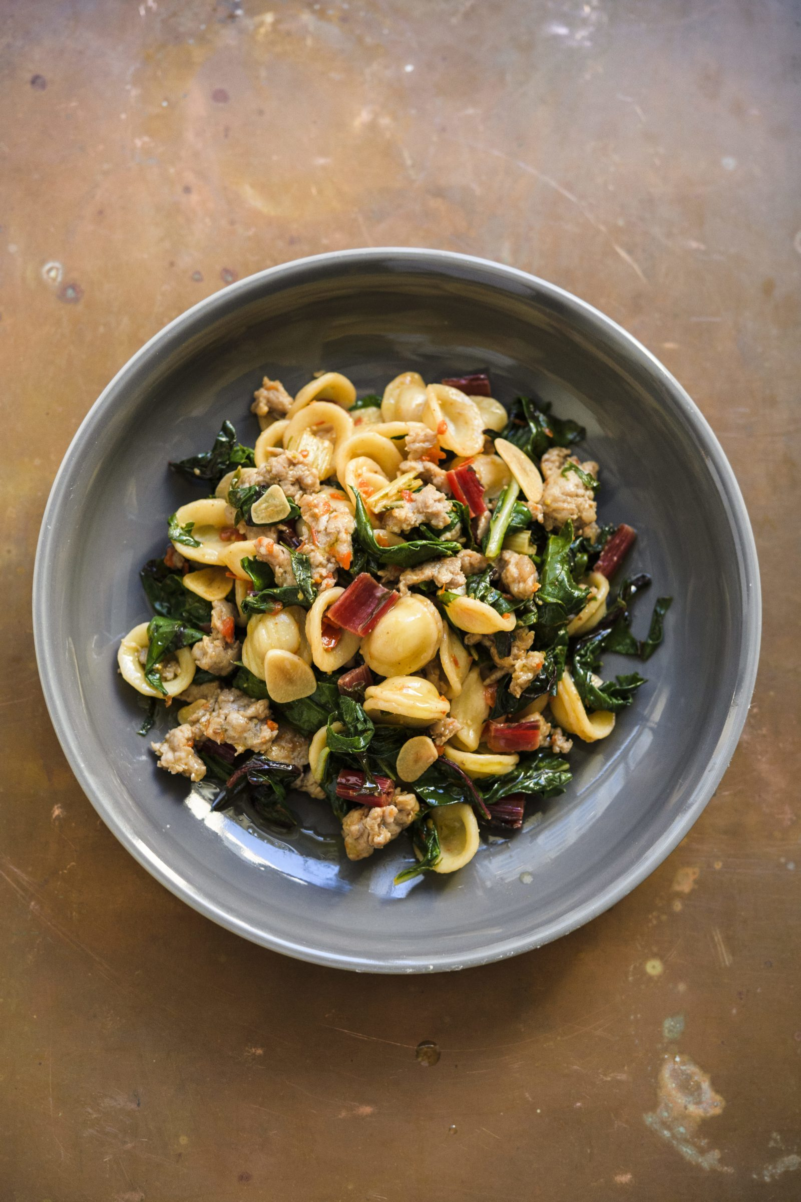 Orecchiette with Sausage and Chard