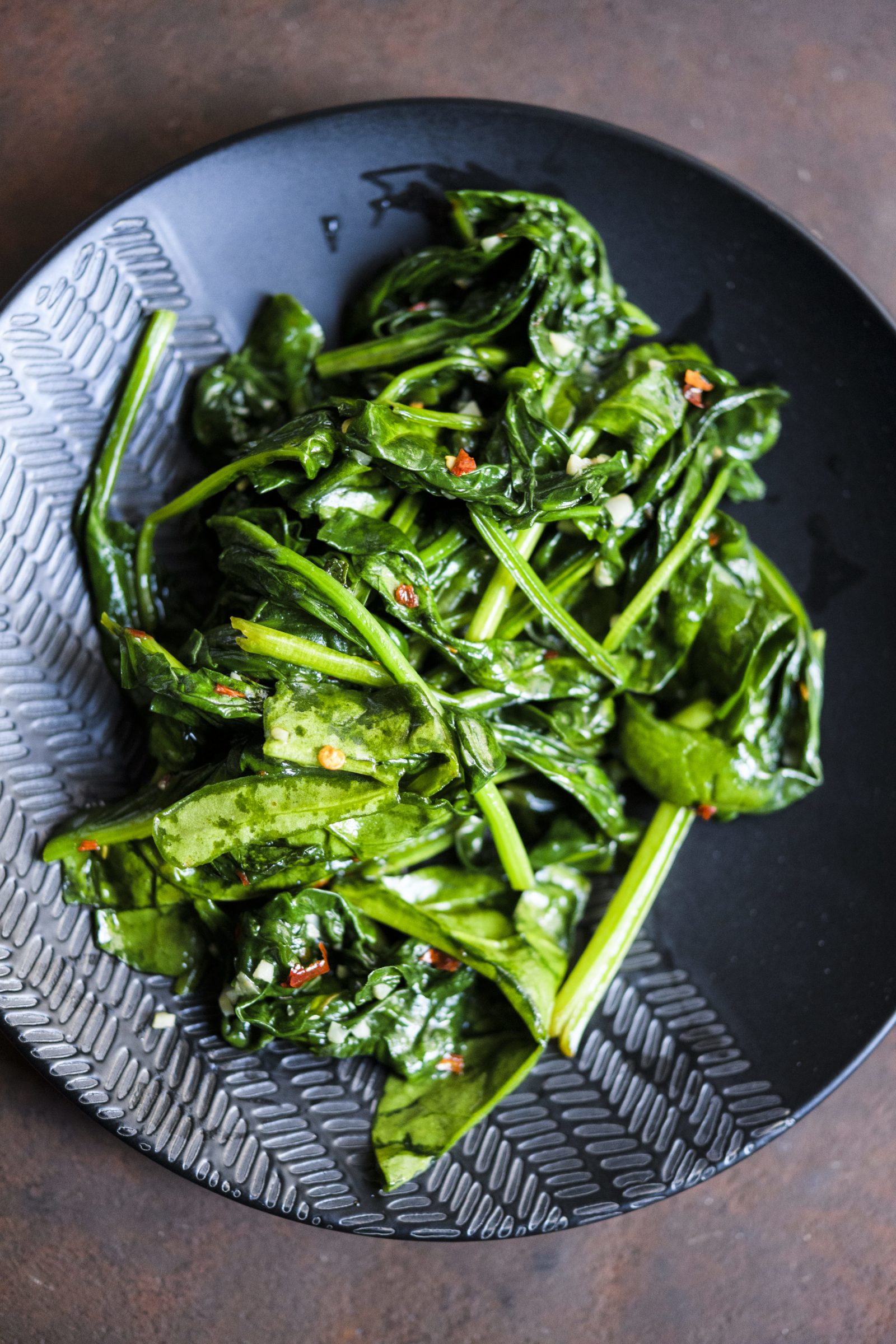 Thai Stir-Fried Spinach