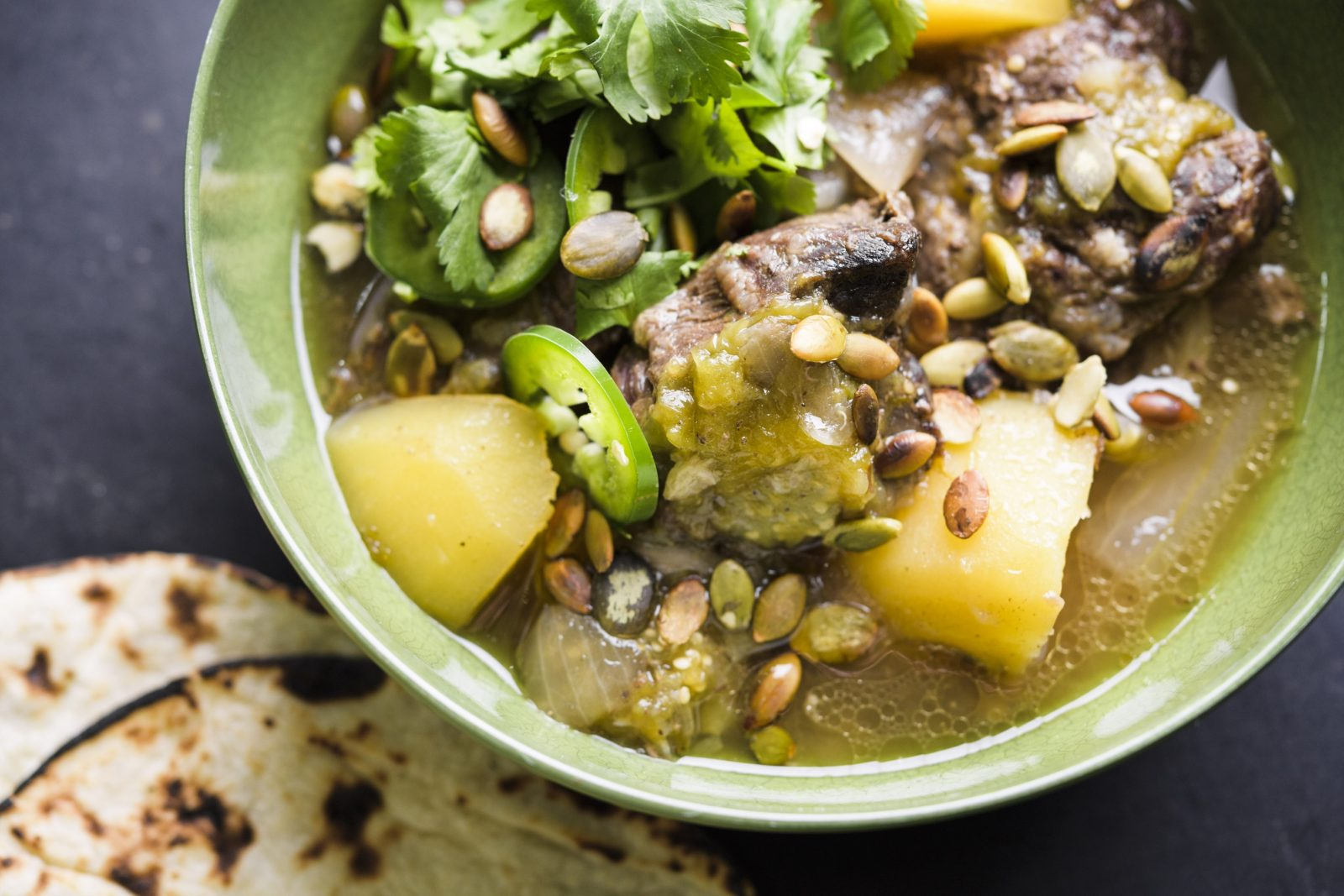 Mexican Beef and Tomatillo Stew (Entomatado de Res)