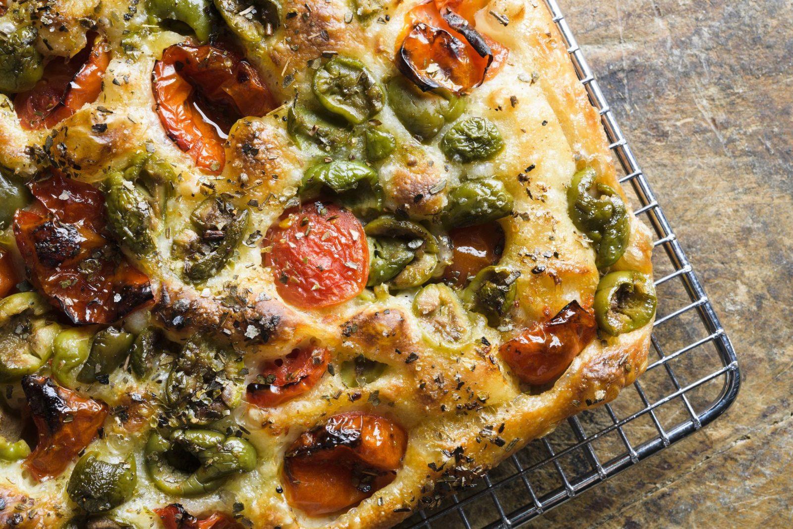 Tomato-Olive Focaccia