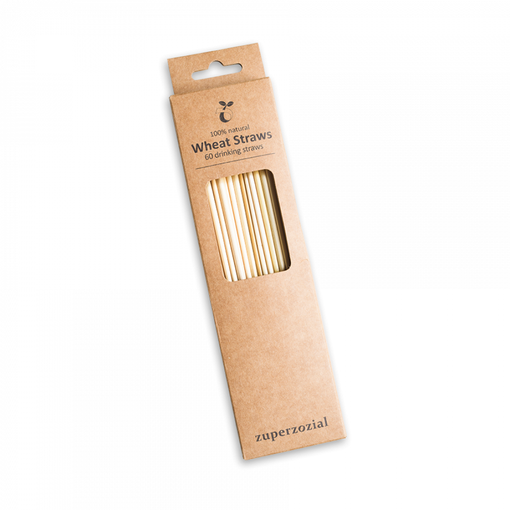 Sip sustainably with easy-clean silicone or natural wheat straws.