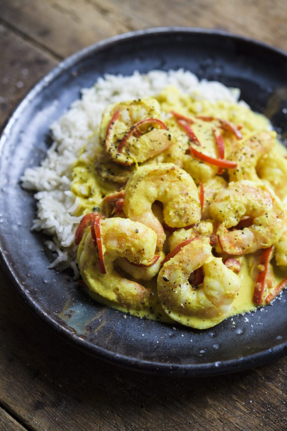 Coconut–Lemon Grass Shrimp with Rice