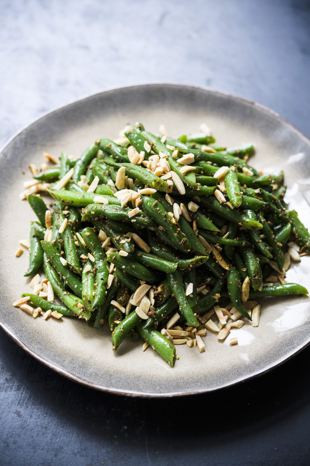Green Beans with Toasted Almonds, Browned Butter and Whole Spices