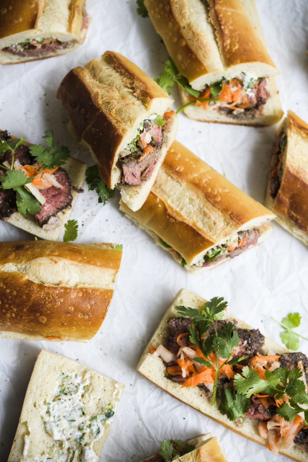 Grilled Vietnamese Skirt Steak Sandwiches (Banh Mi)