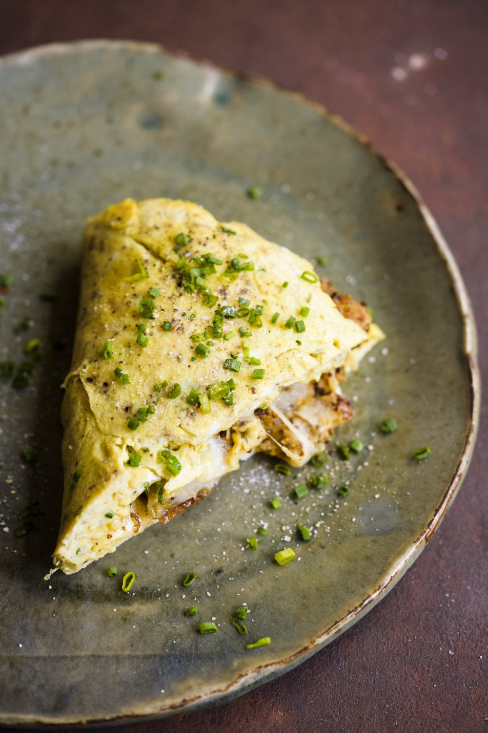 Gruyère and Chive Omelet
