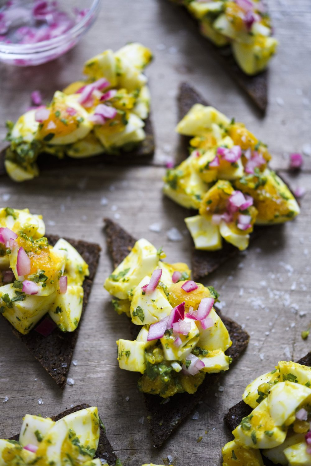 Herbed Egg Salad with Pickled Red Onion