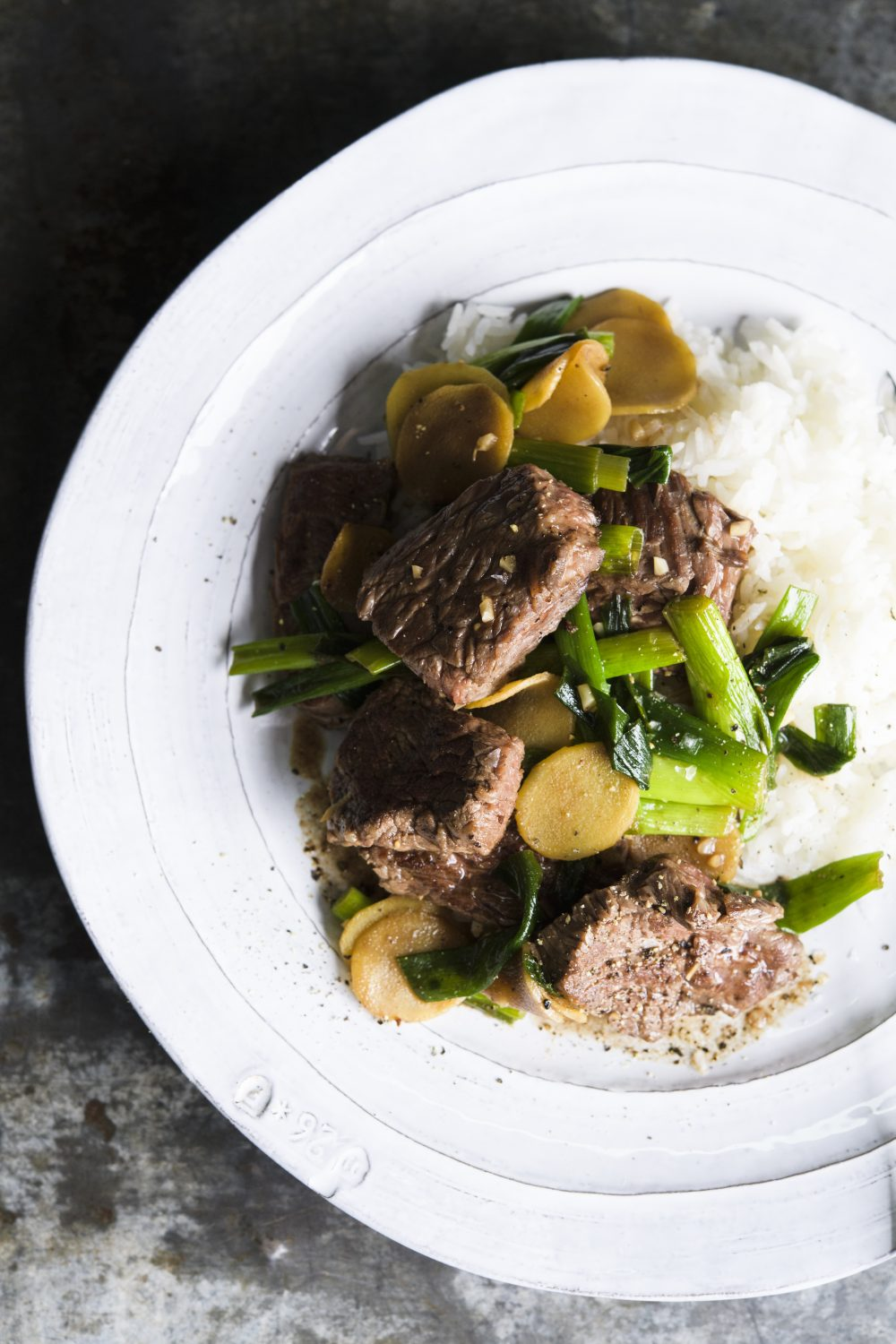 Khmer Stir-Fried Beef and Ginger
