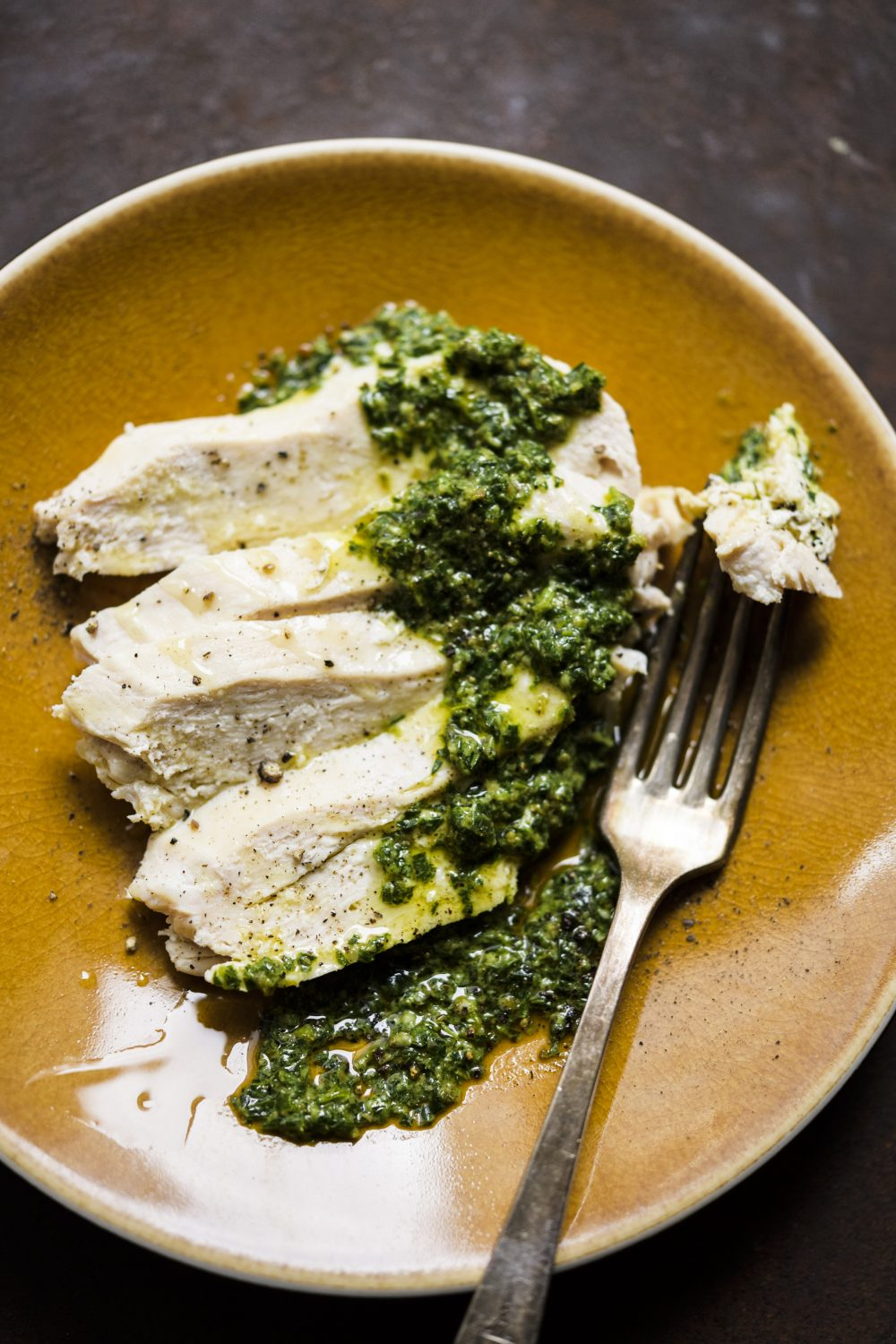 Milk-Poached Chicken with Tarragon Salsa Verde