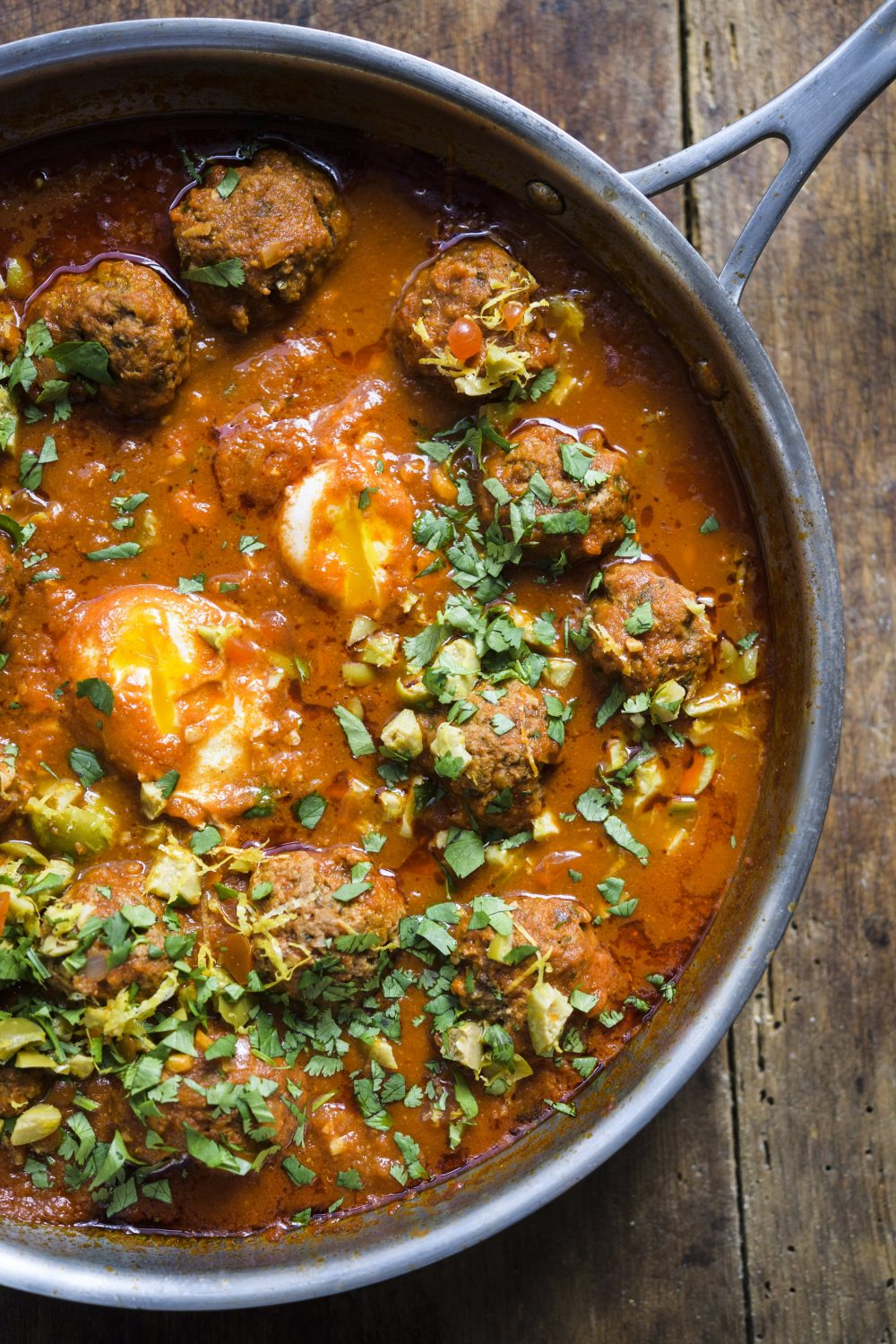 Moroccan Meatball Tagine with Green Olives and Lemon