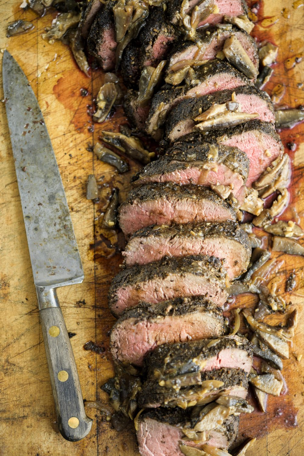 Porcini-Crusted Beef Tenderloin with Mushroom Sauce
