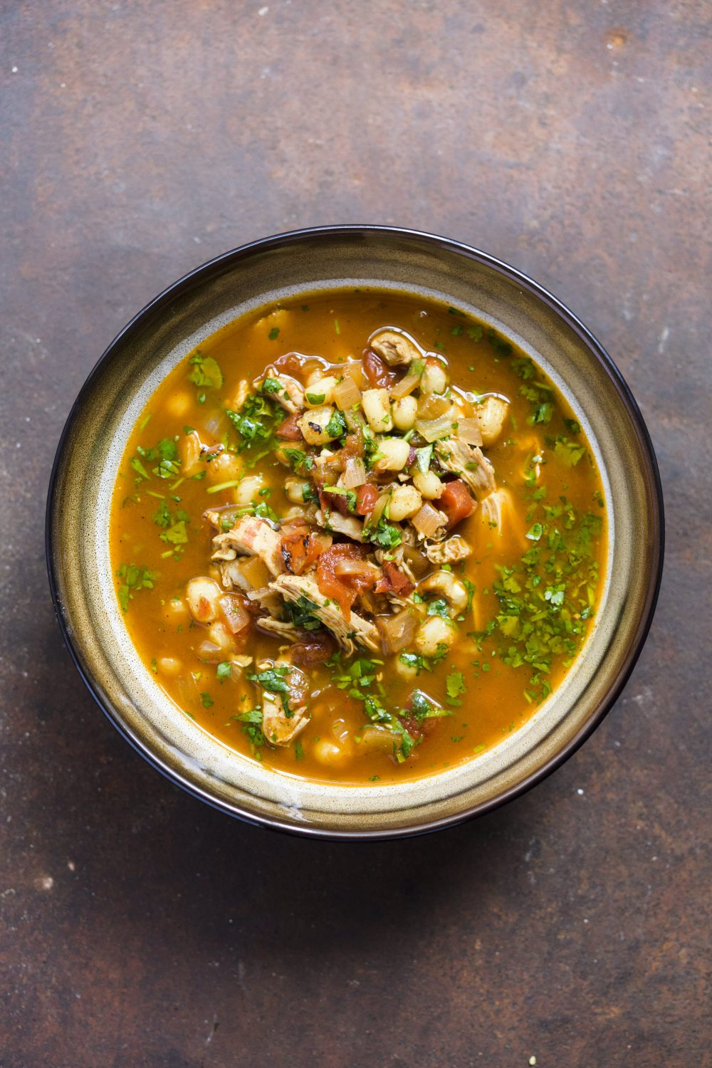 Posole Rojo with Chicken