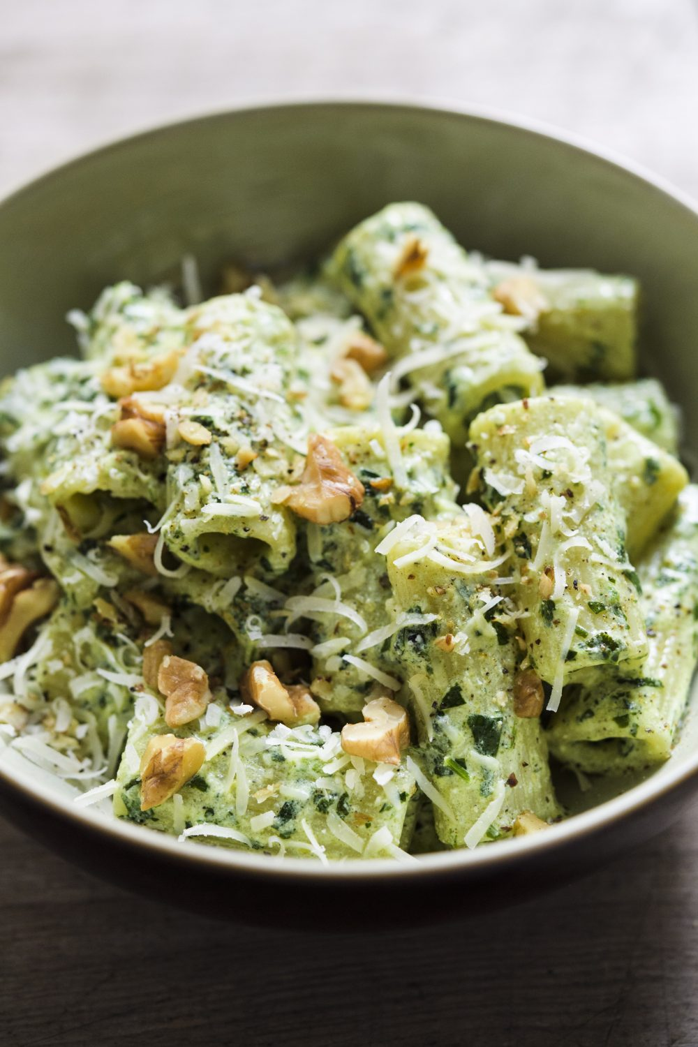 Rigatoni with Ricotta-Sage Pesto