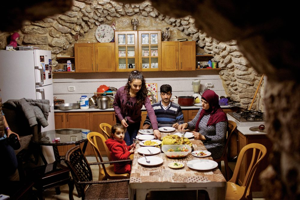 ​Samah Siam teaches Palestinian cooking at her home inside the Damascus Gate in the Old City of Jerusalem.