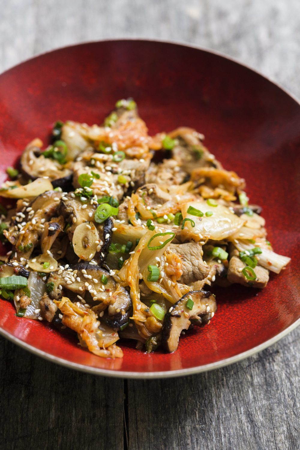 Sesame Stir-Fried Pork with Shiitakes