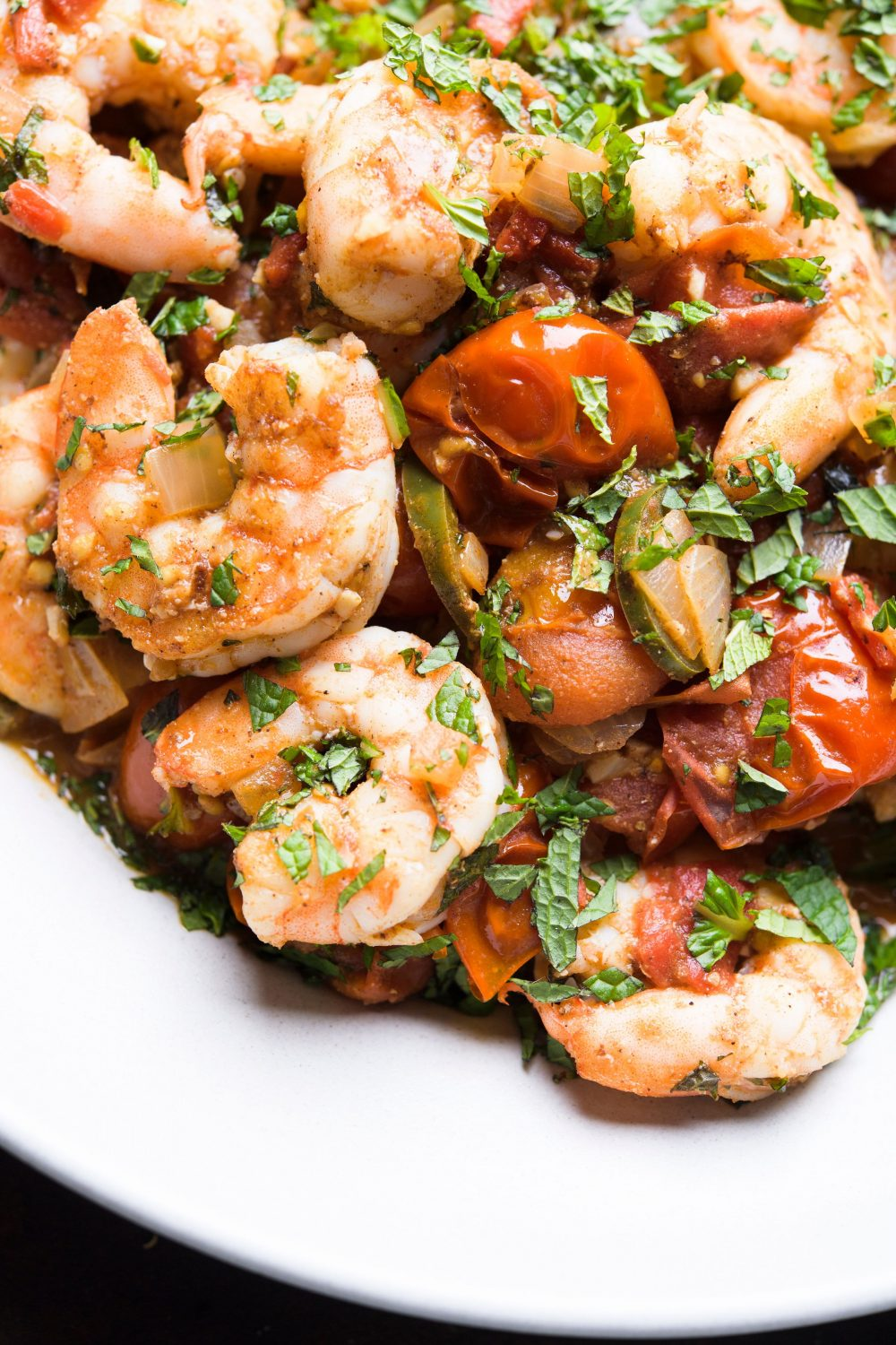 spiced-shrimp-tomatoes-fresh-mint-zibdiyit-gambari-gazan