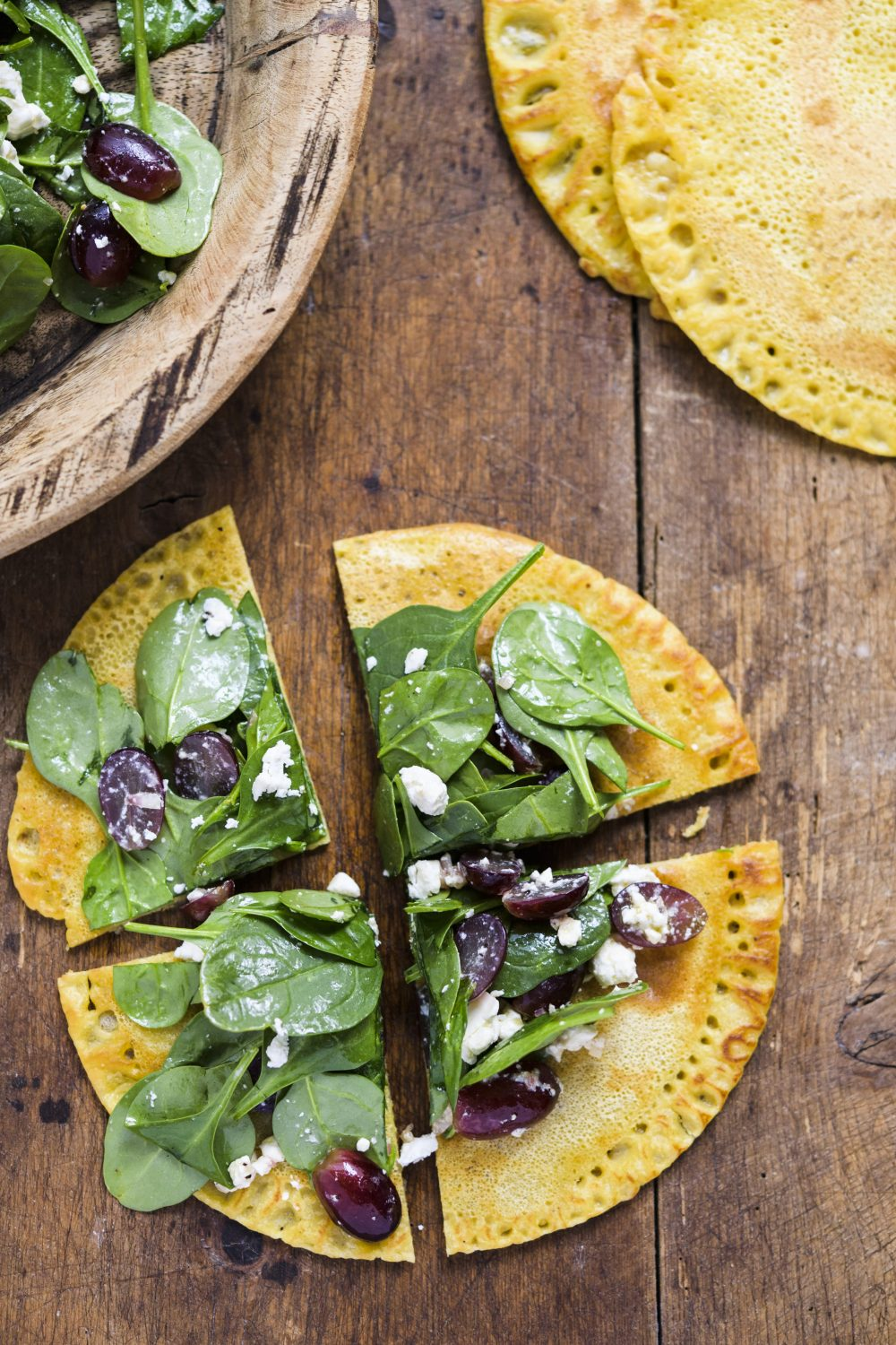 Spinach, Grape and Feta Salad