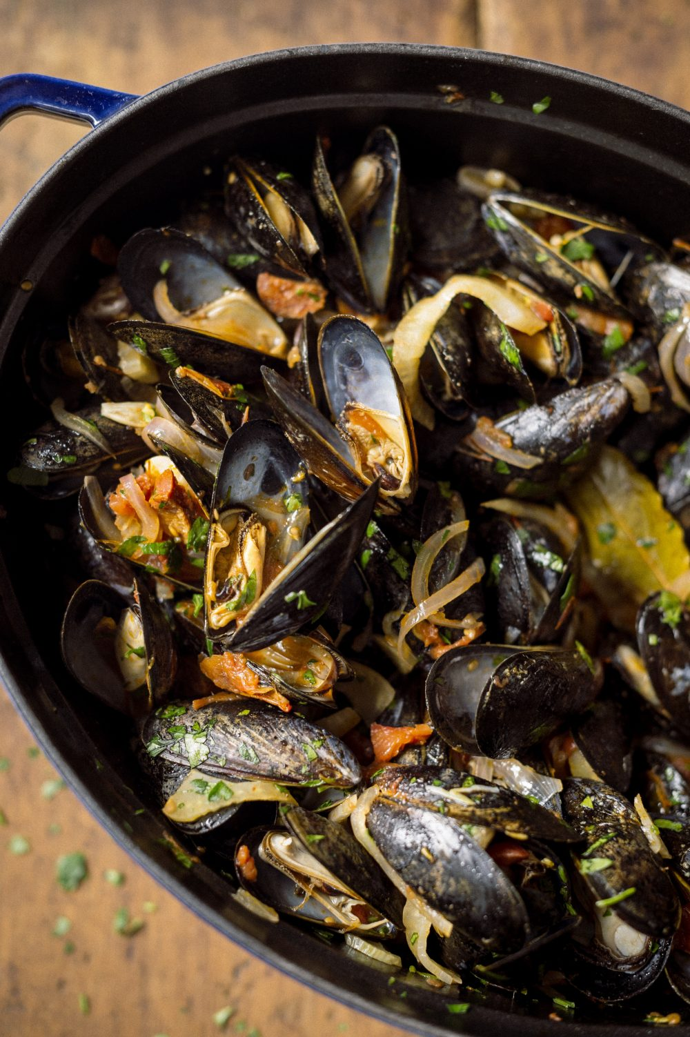 Steamed Mussels with Chorizo and Fennel