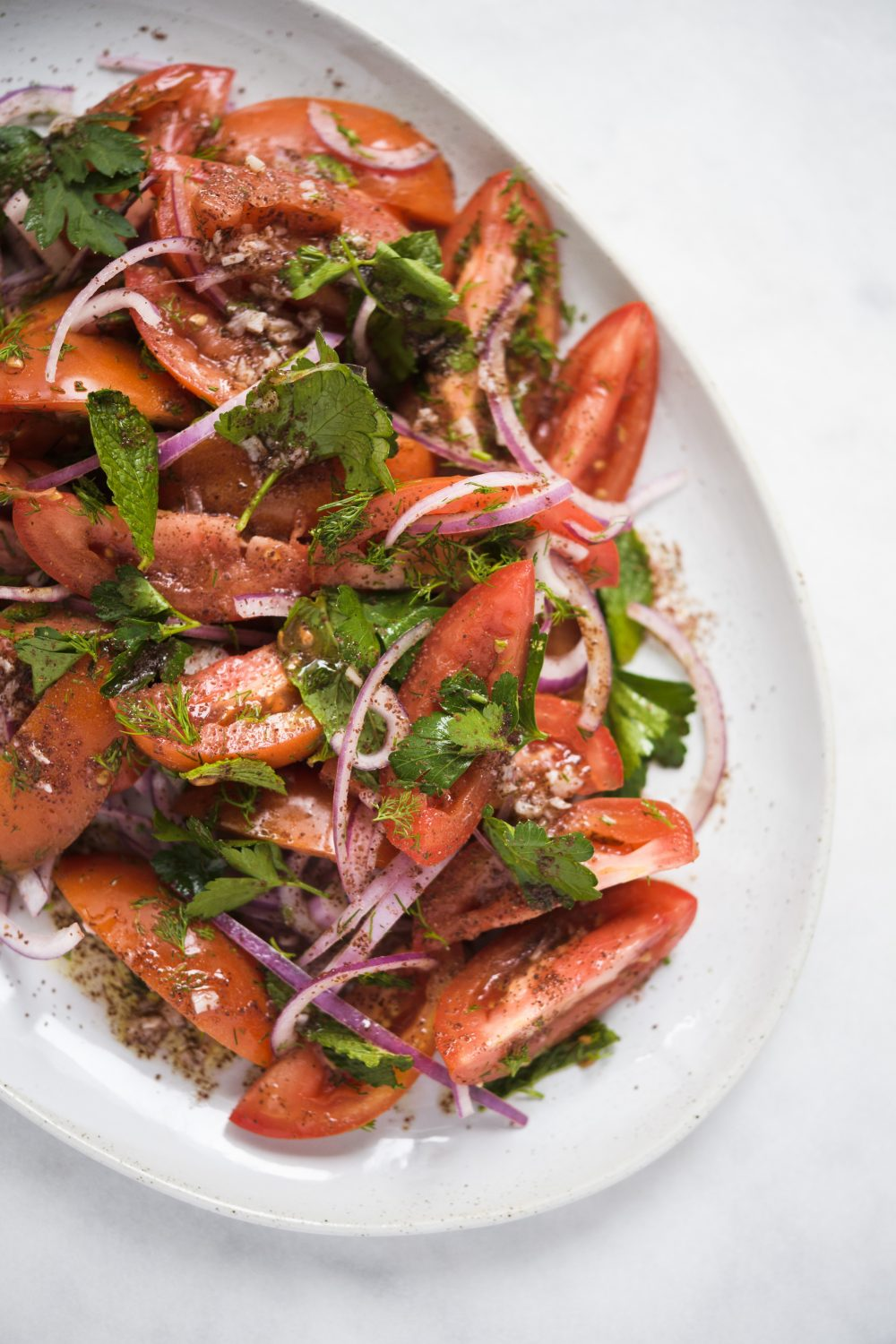 Tomato-Herb Salad with Sumac