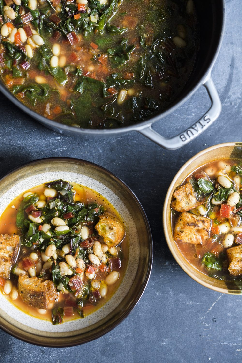 Tuscan Soup with Bread, Beans and Greens (Ribollita)