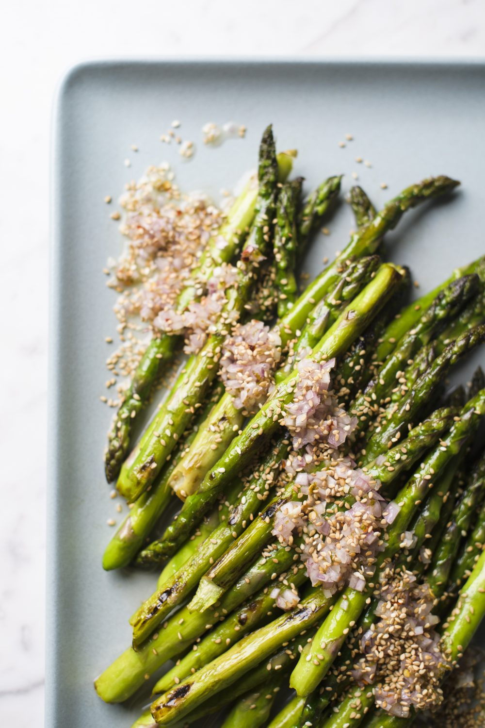 pan-roasted-asparagus-sesame-lime-dressing