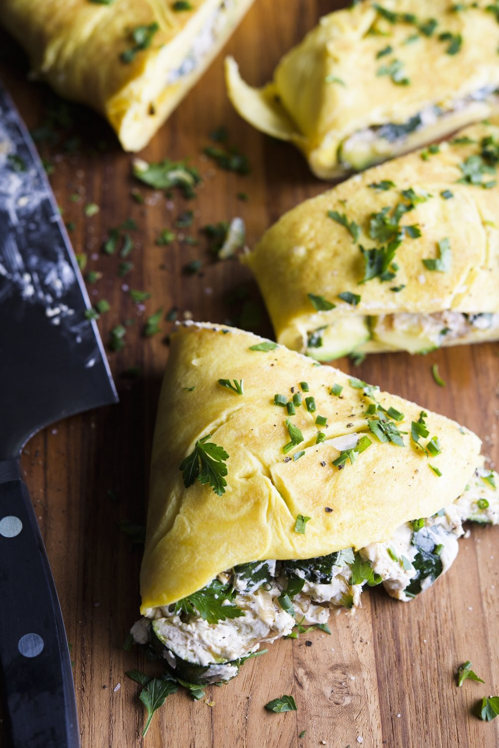 zucchini-goat-cheese-omelet