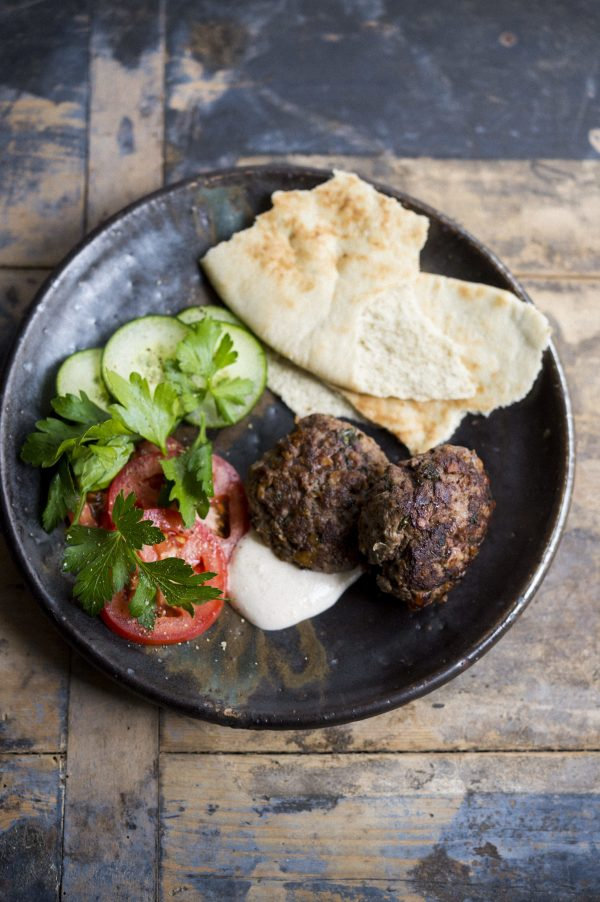 Turkish Meatballs with Lime Yogurt Sauce