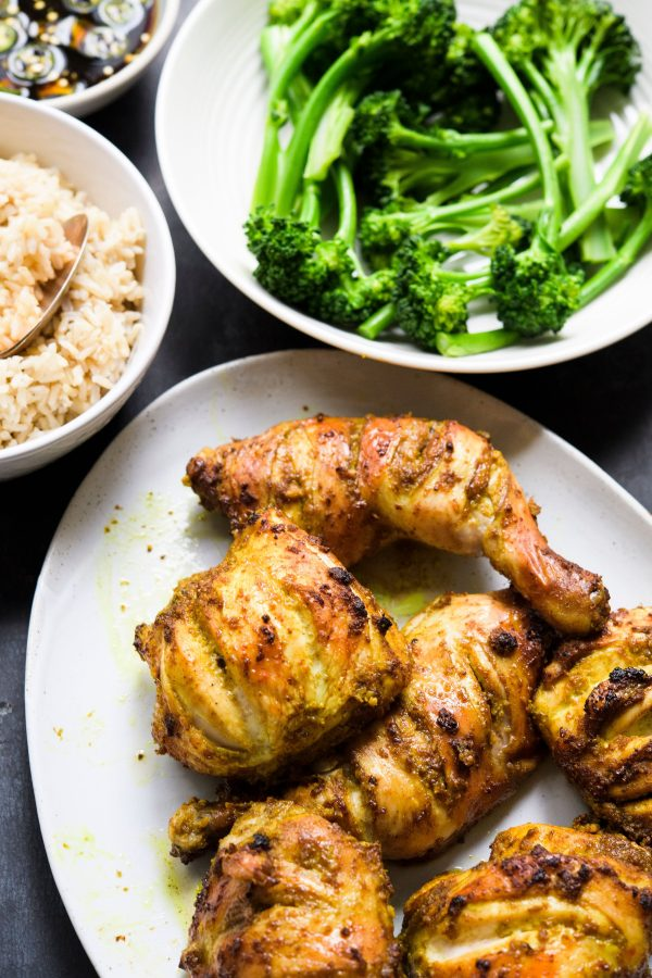 Garlic, Ginger and Five-Spice Roasted Chicken