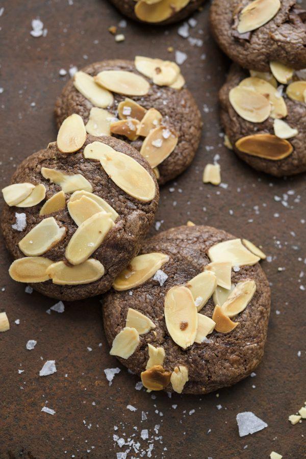 Triple-Chocolate Almond Cookies
