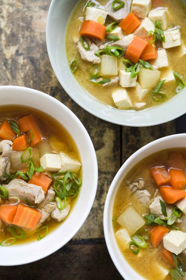 Pork and Vegetable Miso Soup (Ton-Jiru)