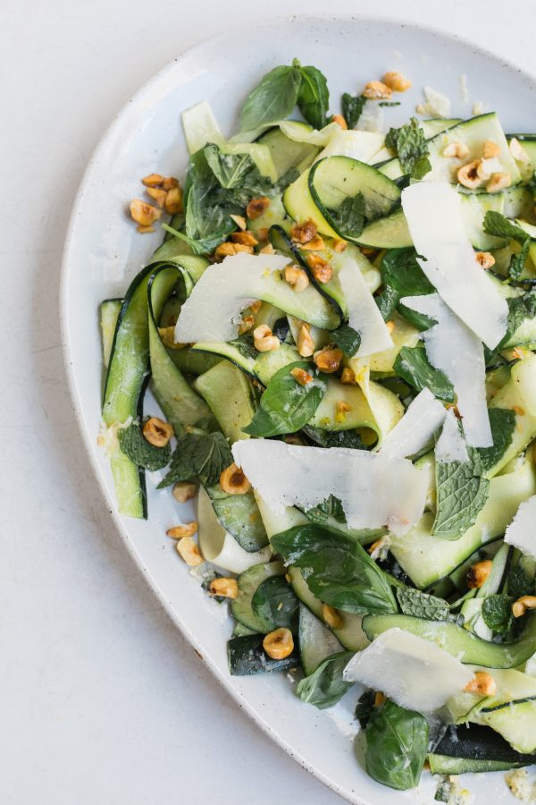 Shaved Zucchini and Herb Salad with Parmesan