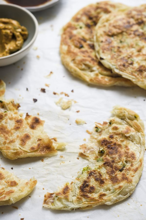 Taiwanese Flaky Scallion Pancakes
