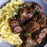 Austrian Beef Stew with Paprika and Caraway (Goulash)