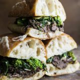Beef Ragù and Broccoli Rabe Sandwiches