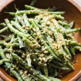 Green Beans with Georgian Mint–Green Chili Relish