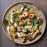 Roasted Cauliflower with Tahini and Lemon Vertical