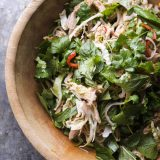 Southeast Asian Chicken Salad with Cashews and Coconut Vertical
