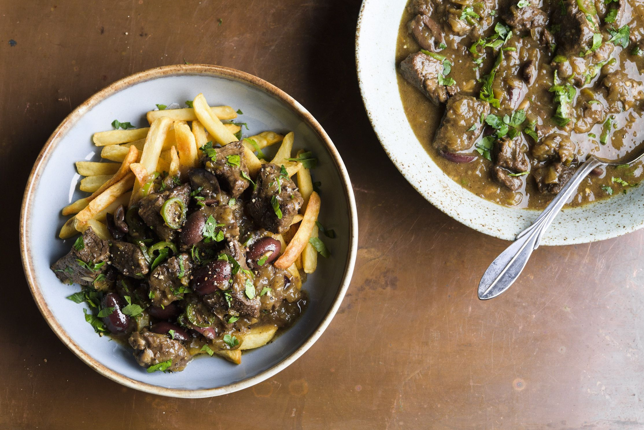 Spicy South African Beef Stew with Olives