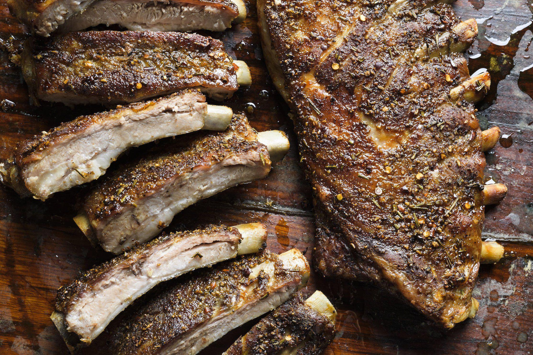 Rosemary and Fennel Pork Ribs (Rosticciana)