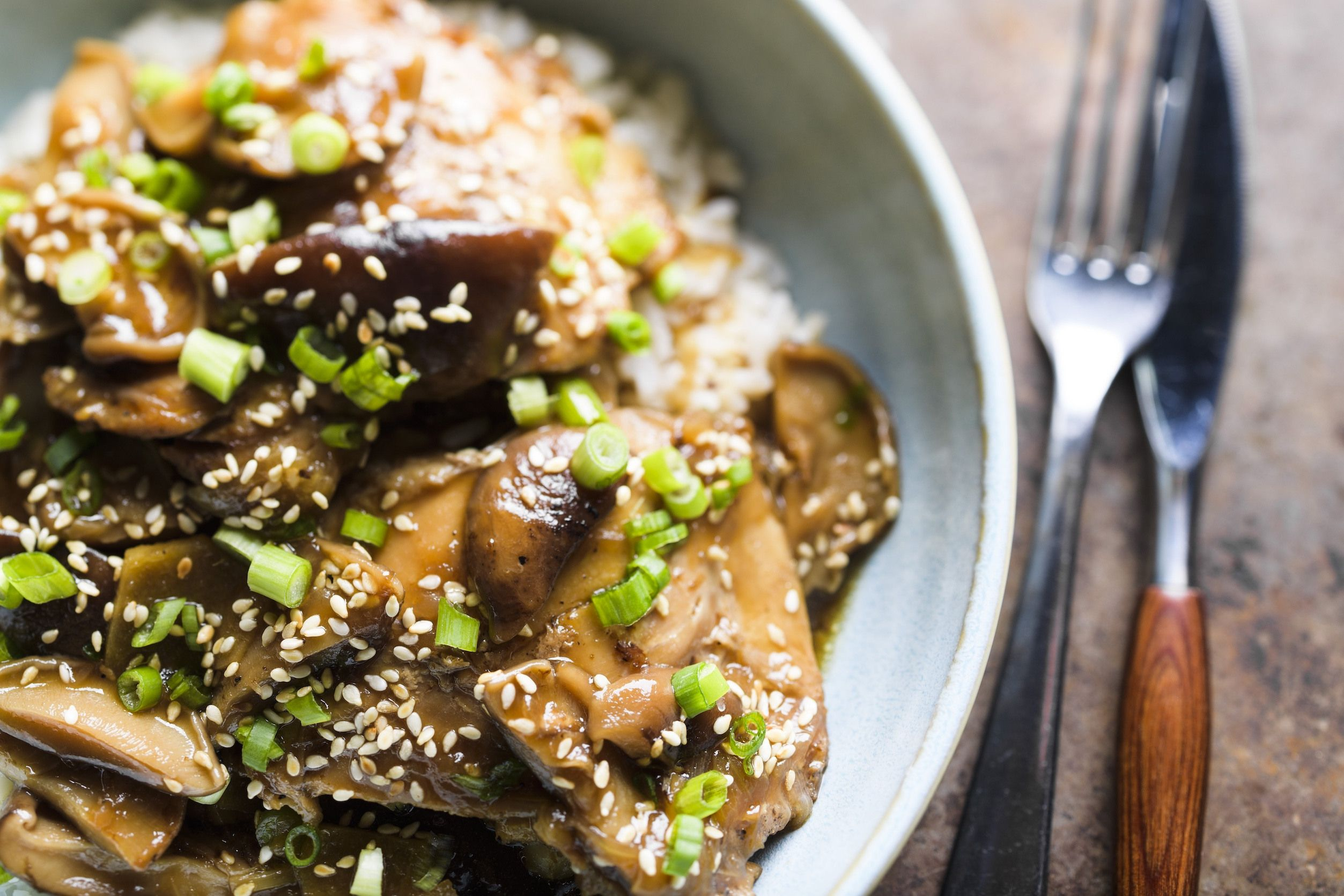 Braised Chicken with Shiitake Mushrooms and Ginger