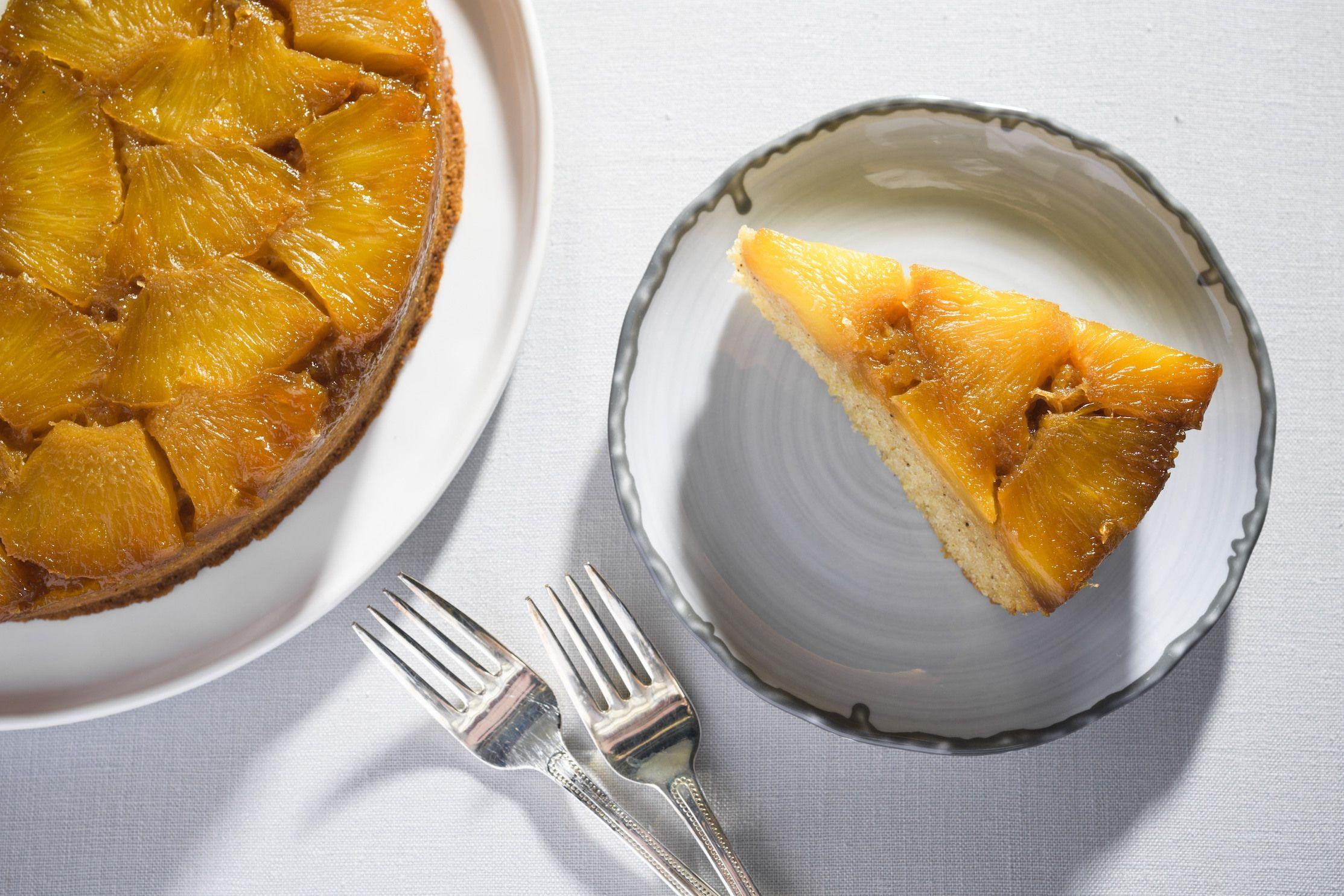 Pineapple Upside-Down Cornmeal Cake