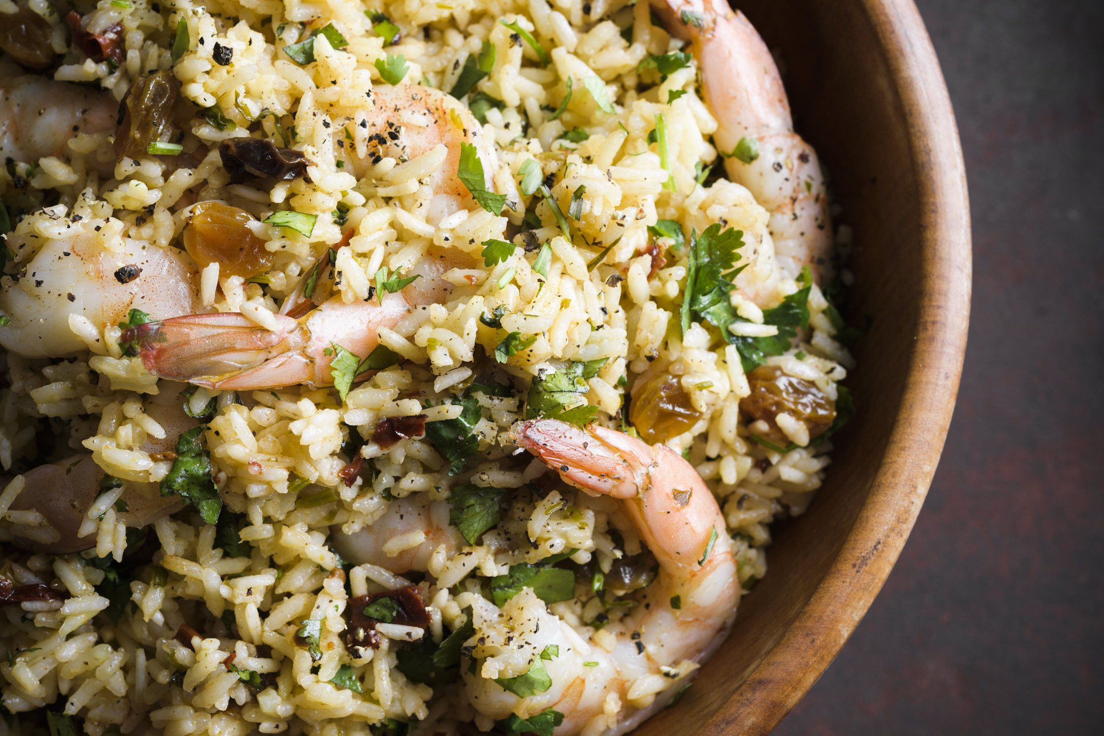 Chipotle Rice with Shrimp and Cilantro