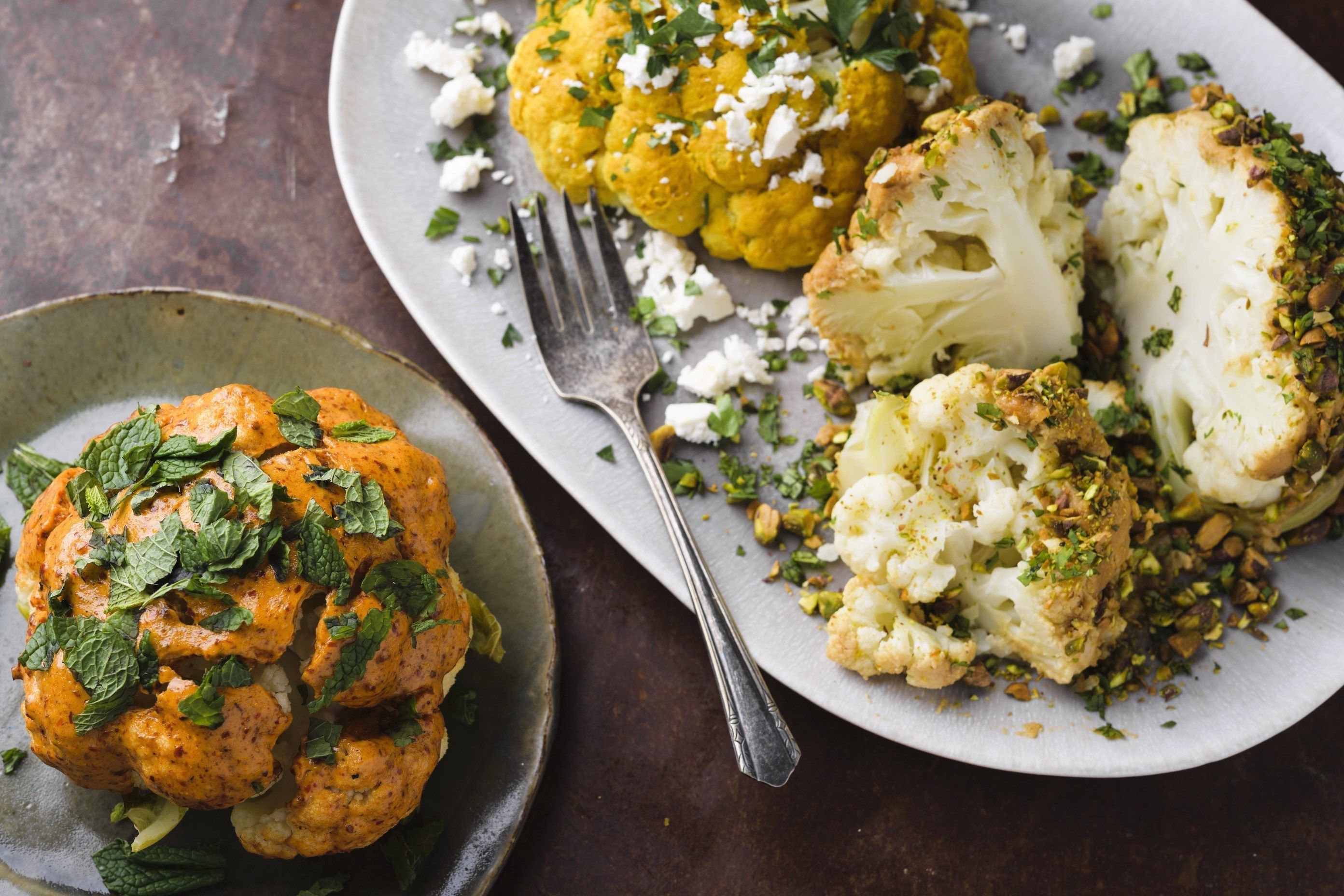 Steamed Whole Cauliflower
