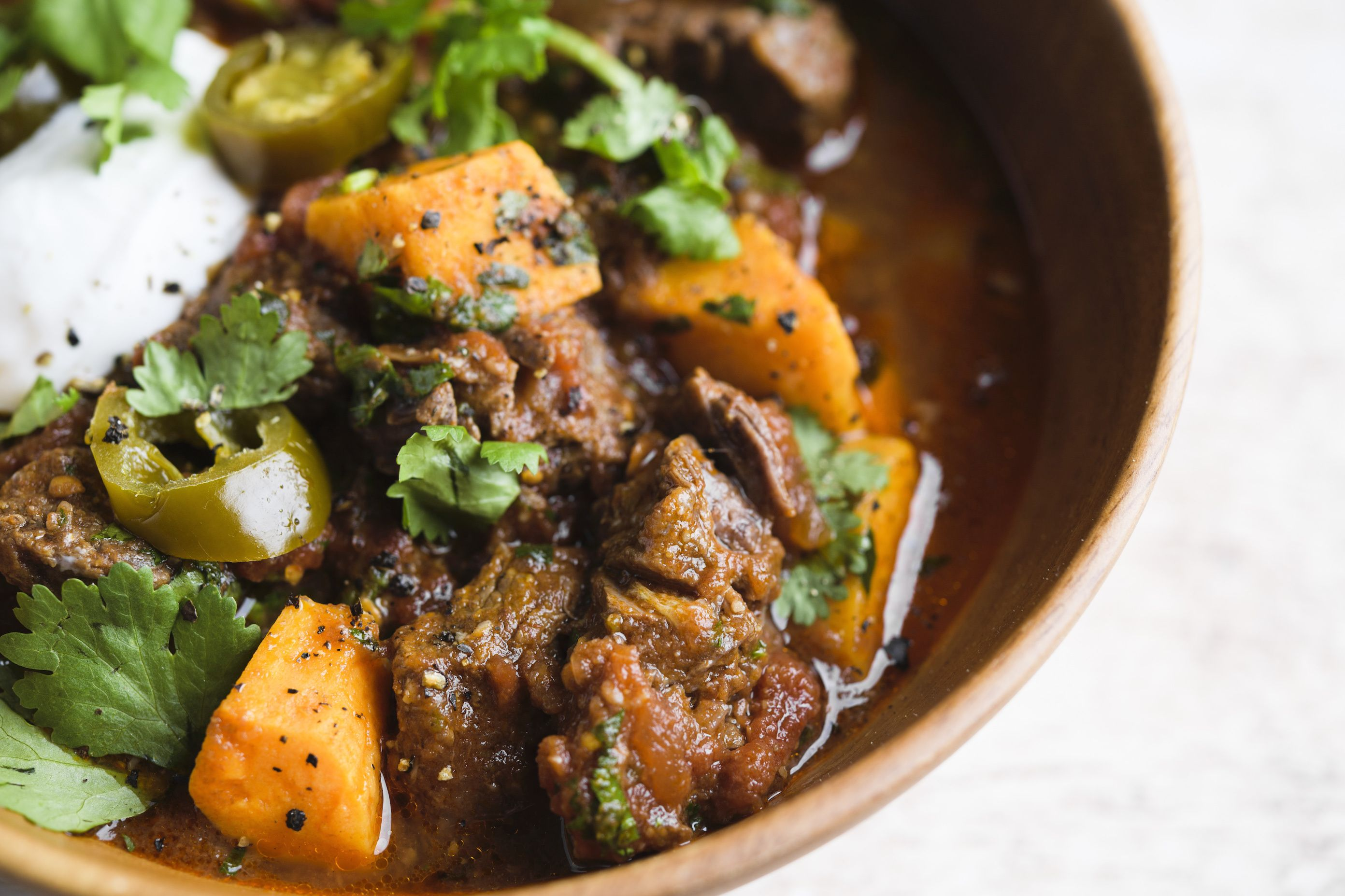 Cumin-Spiced Beef and Sweet Potato Stew