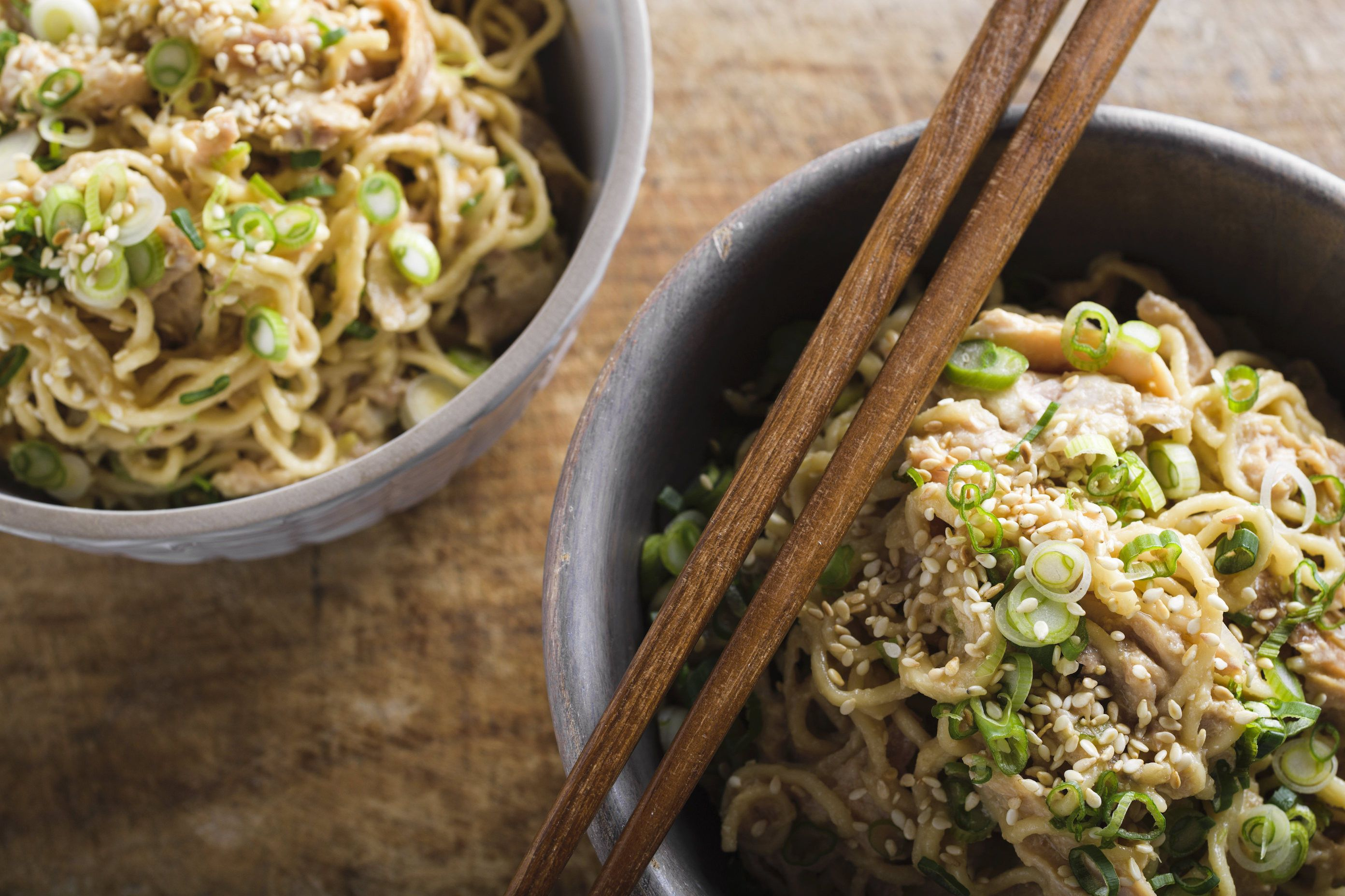 Sesame Noodles with Chicken and Scallions
