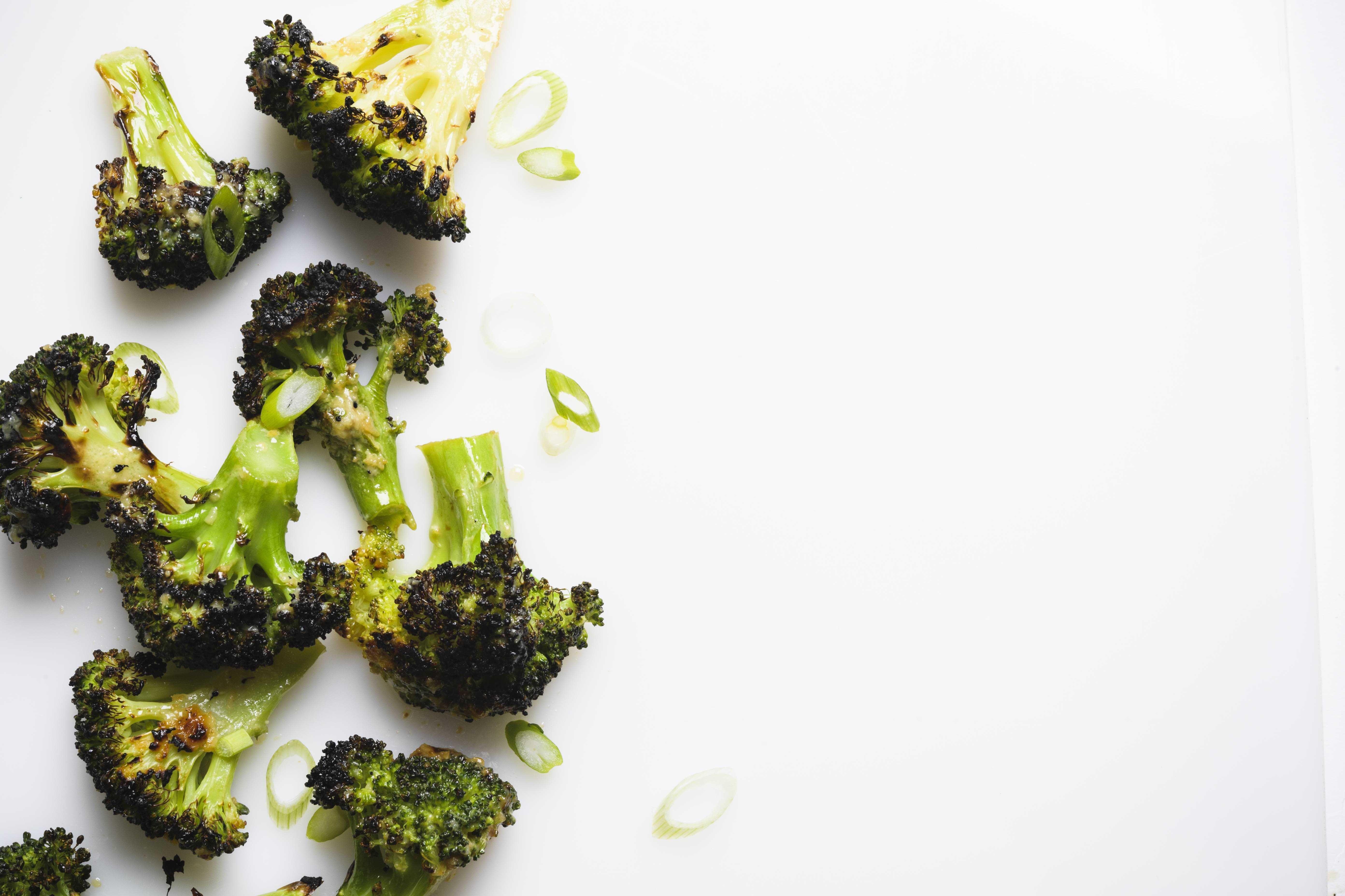 Charred Broccoli with Miso Vinaigrette
