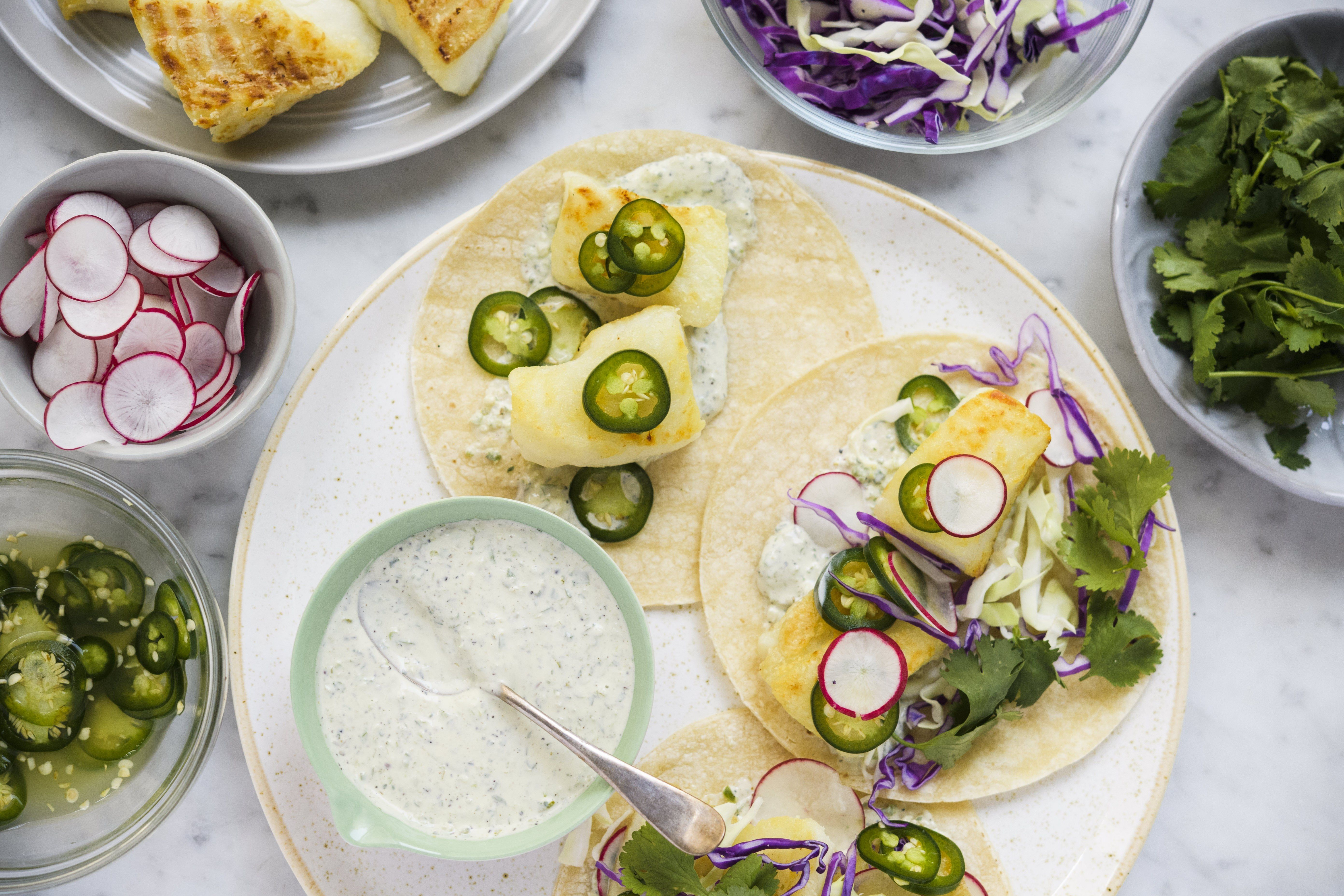 Fish Tacos with Lime-Pickled Jalapeños