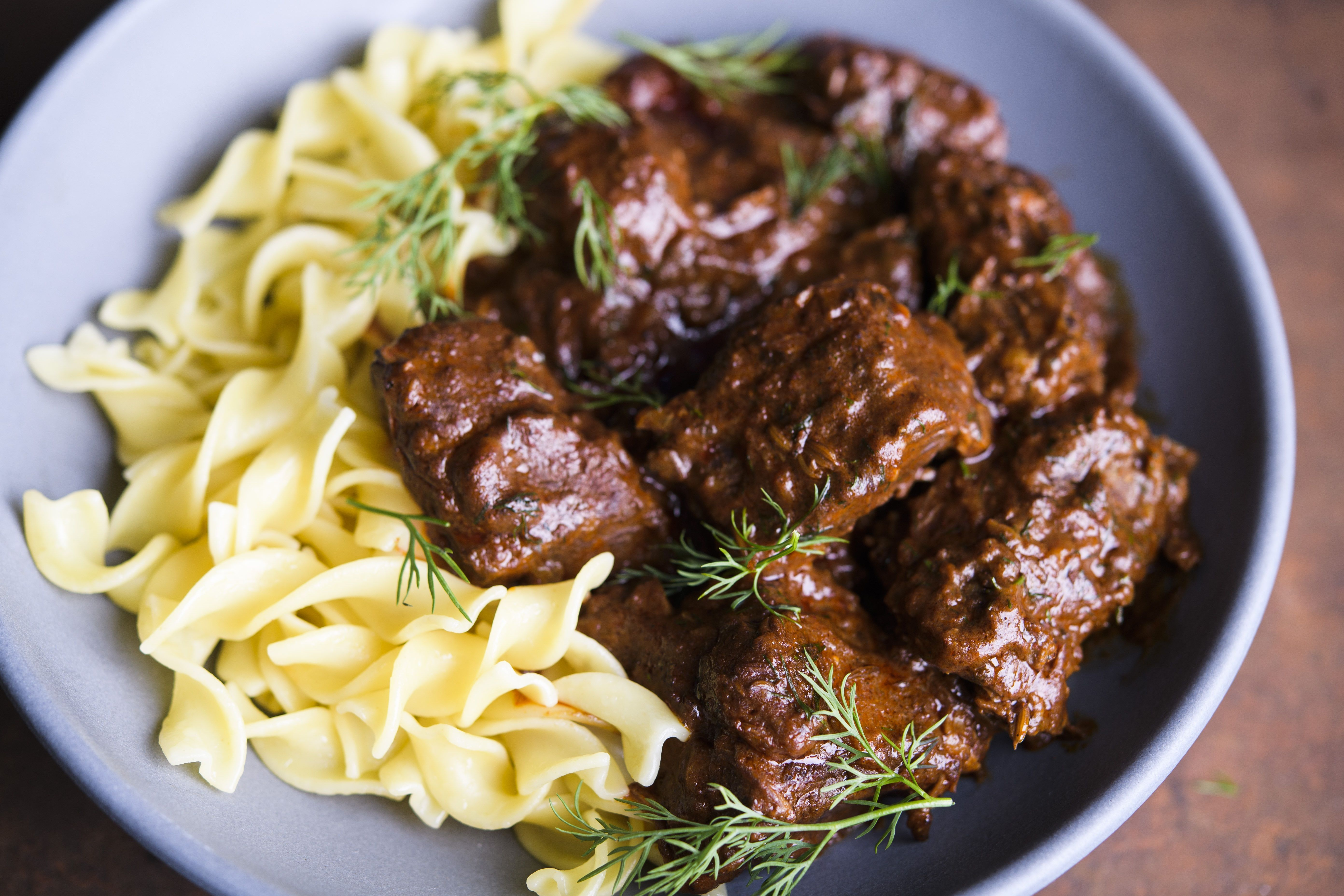 Austrian Beef Stew with Paprika and Caraway (Rindsgulasch)